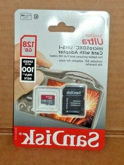 SanDisk 128GB 100mb/s ultra micro sd class 10 Memory Card Ad