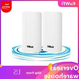 KuWFi 2-Pack CPE 2.4GHz Wireless 300Mbps CPE Kit,Indoor & Ou