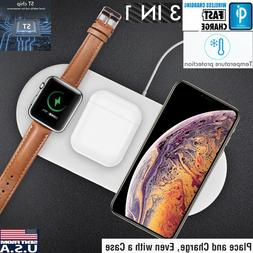 3in1 QI Wireless Charger Charging Dock Station for Apple Wat