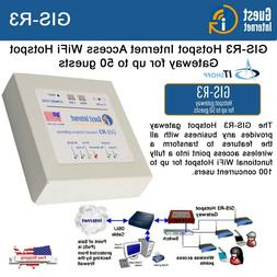 Guest Internet GIS-R3 WiFi Hotspot Gateway for businesses fo