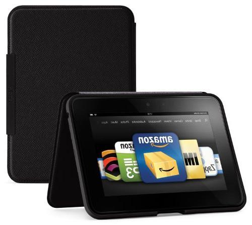 """Amazon Kindle Fire HD 7""""  Standing Leather Case, Onyx Black"""