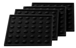 "Lamson Little HotSpot Coasters, Set of 4, Black, 4"" x 4"", Si"