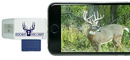 Trail Cam Tracker Trail Camera SD Card Reader for iPhone & A