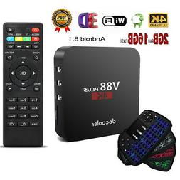 V88 Smart Android 8.1 TV Box 1080P 2GB/16GB WiFi RK3229 Quad