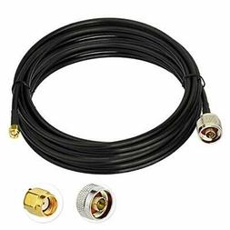 Bingfu WiFi Antenna Extension Cable RP-SMA Male to N Male Lo